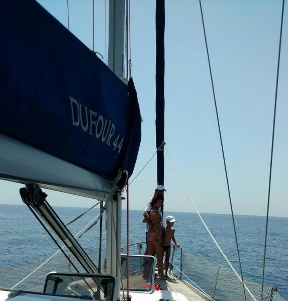 In barca in famiglia